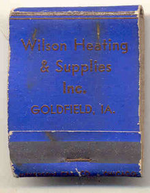 Wilsons Plumbing Heating Matchbook