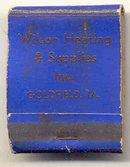 Wilsons Plumbing Heating Matchbook