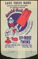 Donald Duck Icy-Frost Bag 1950s