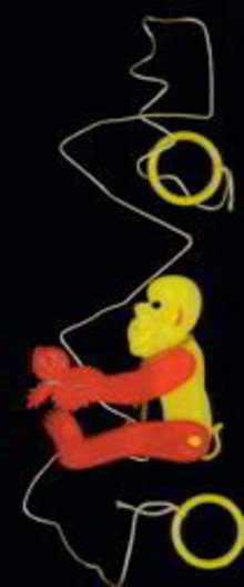 Climbing Monkey on String Toy