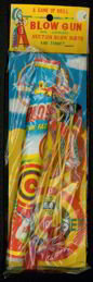 Indian Blow Gun Toy w Celluloid Arrows