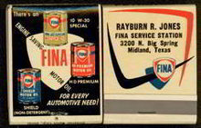 Fina Service Matchbook Full