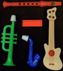 Musical Instrument Gumball Vending Toys