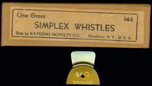 Simplex Tin Whistle Toy