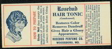 Rosebud Hair Tonic Label