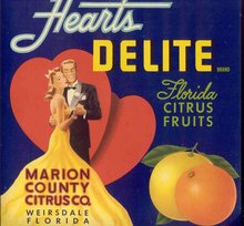 Hearts Delite Citrus Crate Label