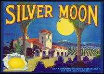 Silvermoon Sunkist Lemon Crate Label