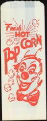Clown Popcorn Bag 1950s