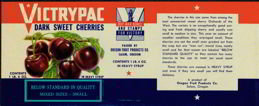 Victry Pac WW2 Cherry Can Label