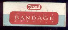 Rexall Guaze Bandage Box 1940s