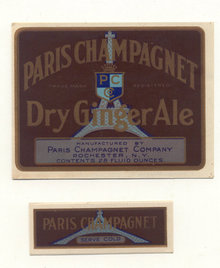Paris Champagnet Gingerale Soda Label