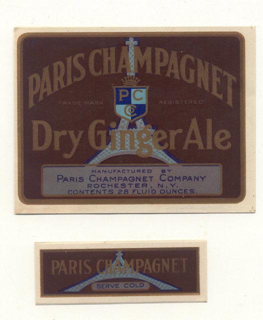 Paris Champagnet Gingerale Soda Label
