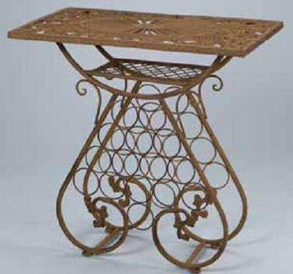 Cast Iron Wine Table