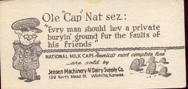 Jensen Dairy Blotter 1950s