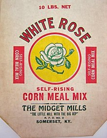 White Rose Corn Meal Bags