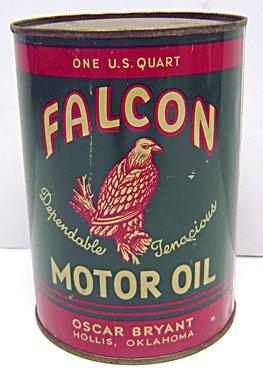 Falcon Motor Oil Can Full Unused