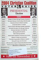 Christian Coalition Voter Guide