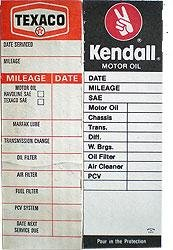 Oil Change Service Records