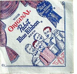 Pabst Blue RIbbon Beer Napkins