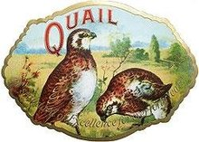 Quail Cigar Label