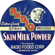 Radio Powdered Milk Poster