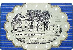 West Kentucky Coal Playing Card