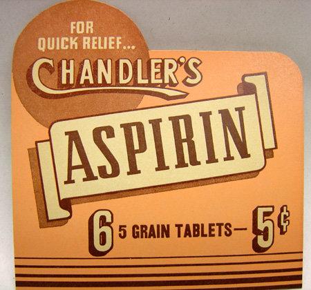 Chandler's Aspirin Store Display