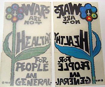 War is Not Health Stickers