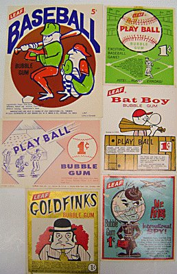 Bubble Gum Vending Cards Toys