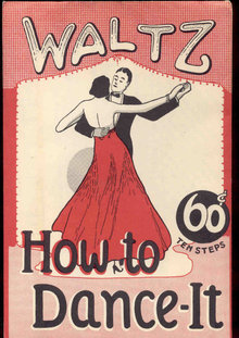 Waltz Dance Instruction Booklet 1940s