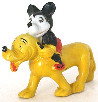 Mickey Mouse Bisque Statue 1930s