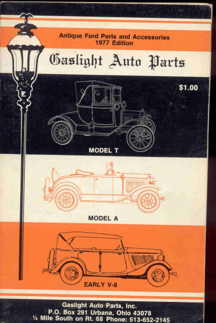 Gaslight Auto Parts Book 1976