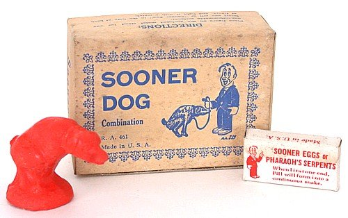 Sooner Dog Toy in Box