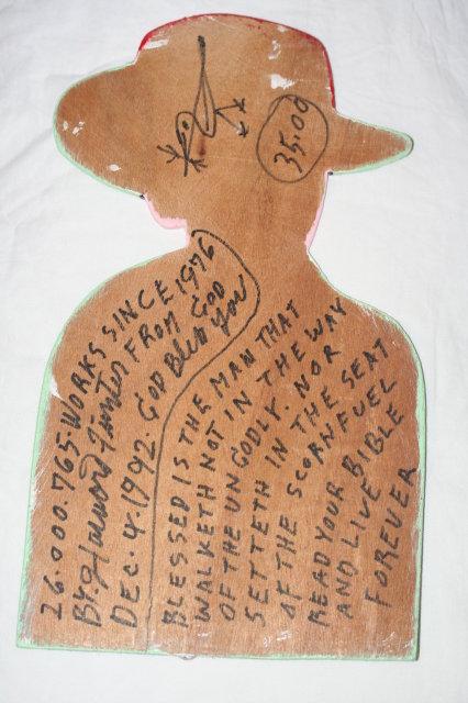 Howard Finster Hank Williams Folk Art Sculpture