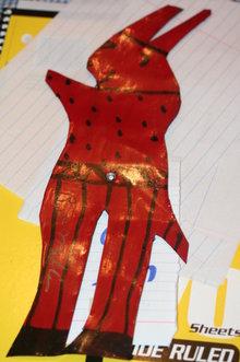 R.A. Miller Red Devil Uncle Sam Enamel Folk Art