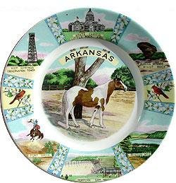 Arkansas Souvenirware Plate