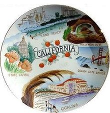 California Souvenaire Plate