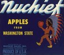 Nuchief Apple Crate Label