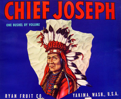 Chief Joseph Apple Crate Label