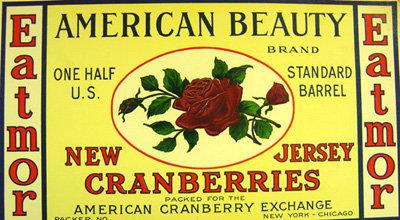 NJ American Beauty Cranberry Label