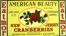 NJ American Beauty Cranberry Label