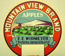 Mt. View Apple Barrel Label