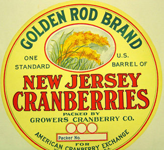 Golden Rod Barrel Cranberry Label