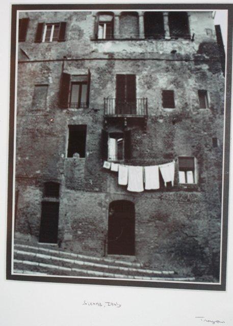 Rome Sicily BW Photo Framed