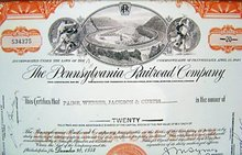 Pennsylvania Railroad Stock Certificate Framed
