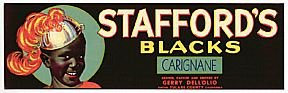 Stafford's Grape Crate Labels Negro