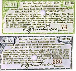 Niagara Falls bonds