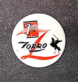 Zorro 7UP Pinback Pin