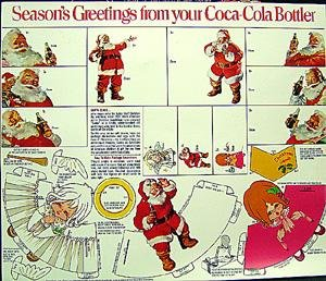 Santa Coke Giveaway Toy Doll Cut-Outs