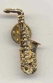 Saxophone Clinton Pin